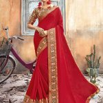 Triveni Kanchana Pink Party Wear Chanderi Silk Saree