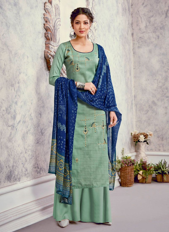 Bluebell Designer Peach Color Trendy Palazzo Suit