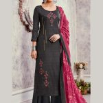 Bluebell Designer Grey Color Trendy Palazzo Suit