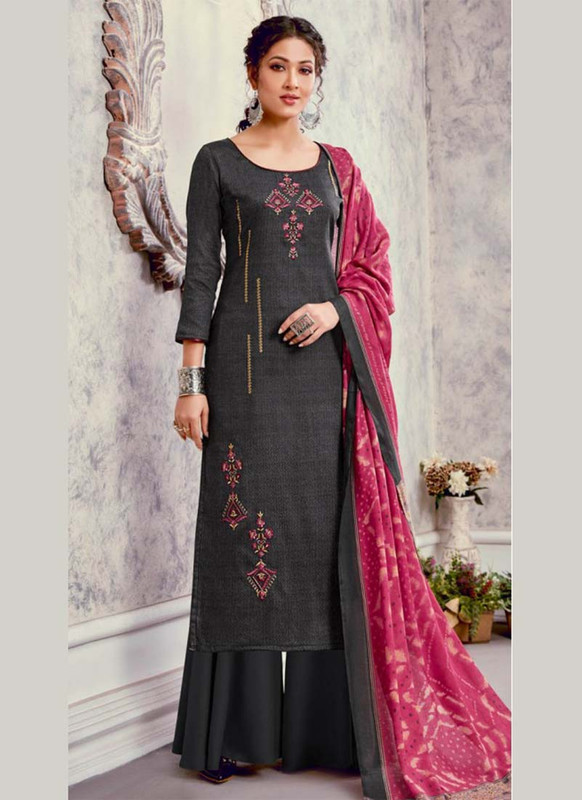 Bluebell Designer Green Color Trendy Palazzo Suit