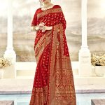Kessi Aabhusan Designer Red Wedding Wear Silk Saree