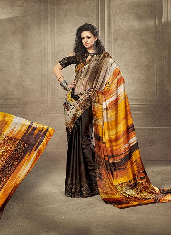 Sareetag Beautiful Designer Digital Printed Signature Saree Collection