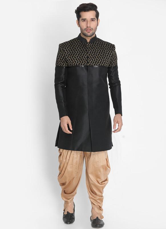 Sareetag Black  Readymade Designer Sherwani