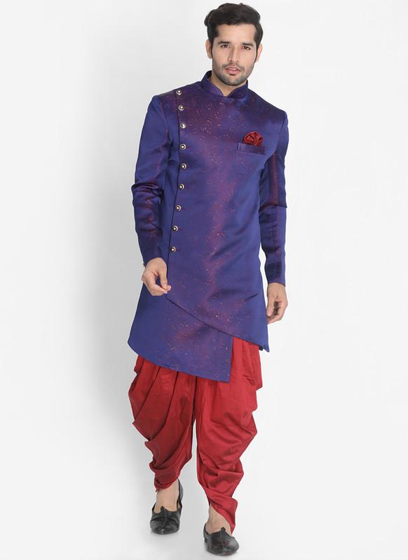 Sareetag Blue  Readymade Designer Sherwani