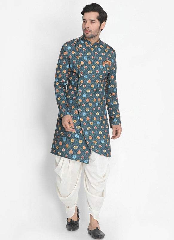 Sareetag Multicolor  Readymade Designer Sherwani