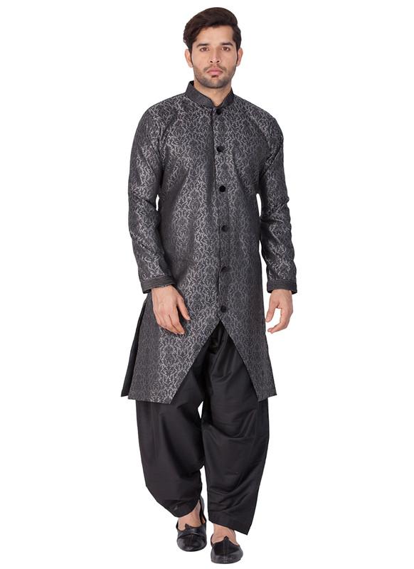 Sareetag Grey  Readymade Designer Sherwani