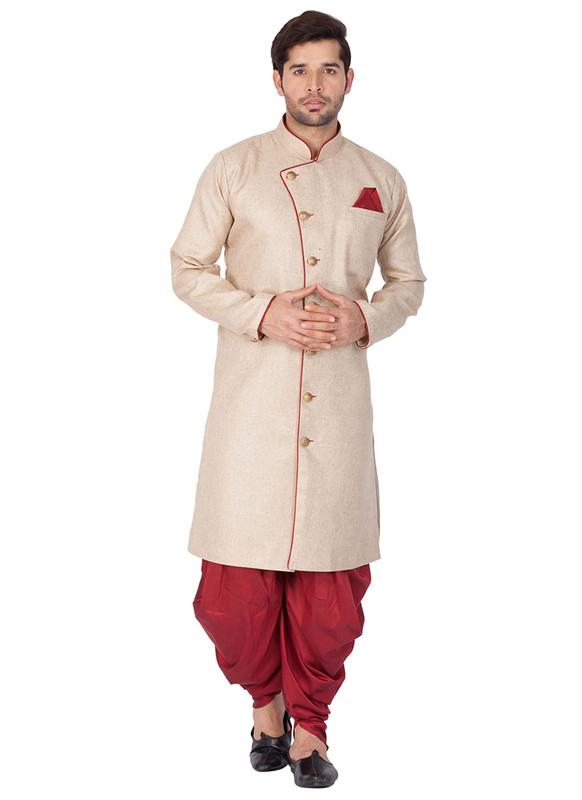 Sareetag  Brown  Readymade Designer Sherwani