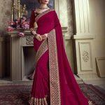 Sareetag Teal Green  Designer Party Wear Satin Silk Saree