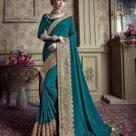 Sareetag Violet  Designer Party Wear Satin Silk Saree