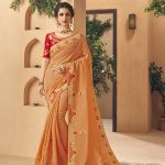 Kessi Aabhusan Designer Grey Wedding Wear Silk Saree