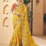 Kessi Aabhusan Designer Purple Wedding Wear Silk Saree