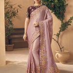 Kessi Aabhusan Designer Blue Wedding Wear Silk Saree
