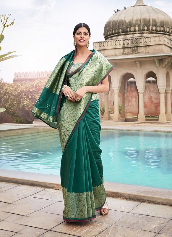 Sareetag Brown  Designer Classic Wear Cotton Saree