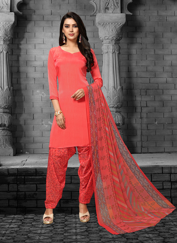 Sareetag Coral  Designer Party Wear Salwar Suit