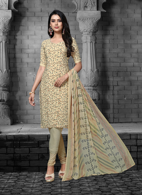 Sareetag Cream  Designer Party Wear Salwar Suit