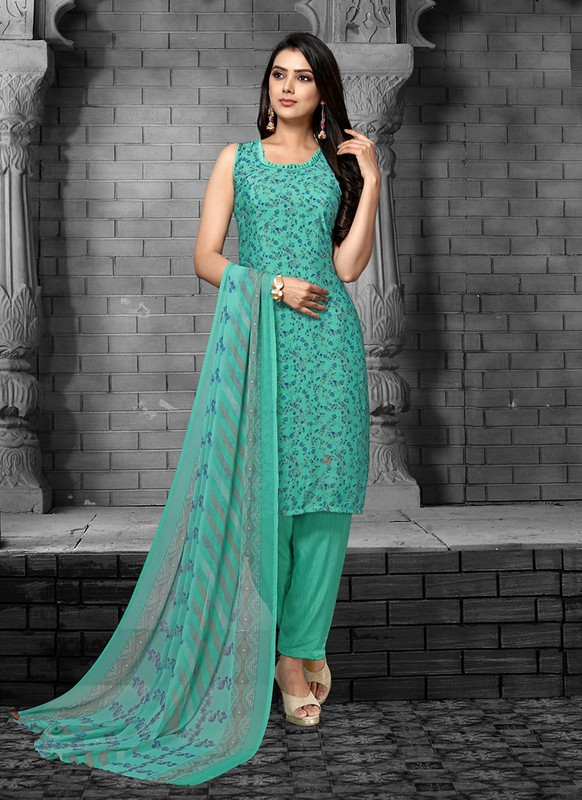 Sareetag Sea Green  Designer Party Wear Salwar Suit