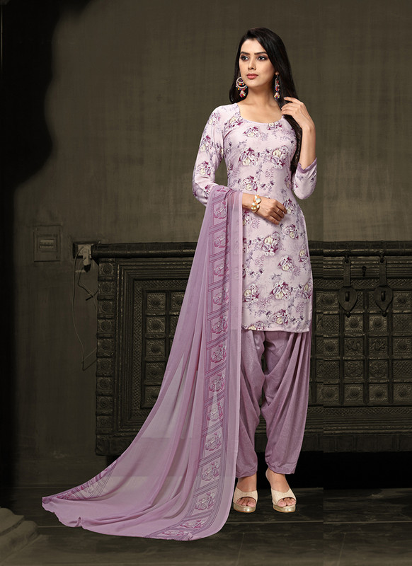 Sareetag Light Purple  Designer Party Wear Salwar Suit