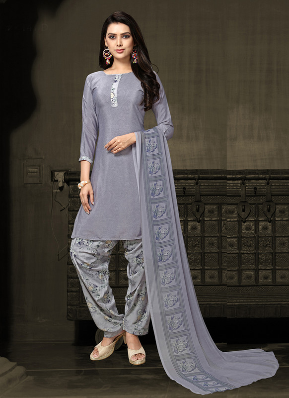 Sareetag Grey  Designer Party Wear Salwar Suit