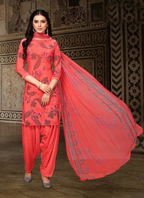 Sareetag Red  Designer Party Wear Salwar Suit
