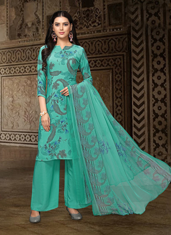 Sareetag Green  Designer Party Wear Salwar Suit