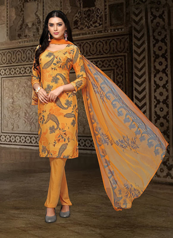 Sareetag Yellow  Designer Party Wear Salwar Suit
