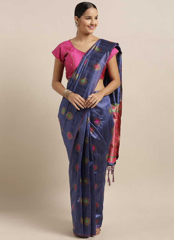 Sareetag Blue  Designer Classic Party Wear Saree