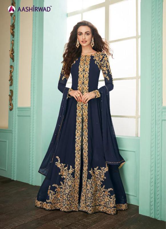 Aashirwad Almirah Gold  Party Wear Designer Suit