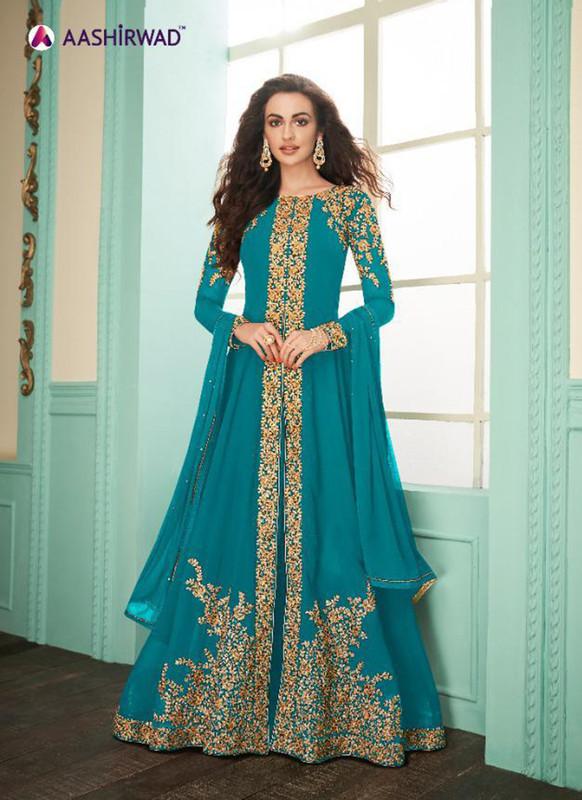 Aashirwad Almirah Gold Designer Suit