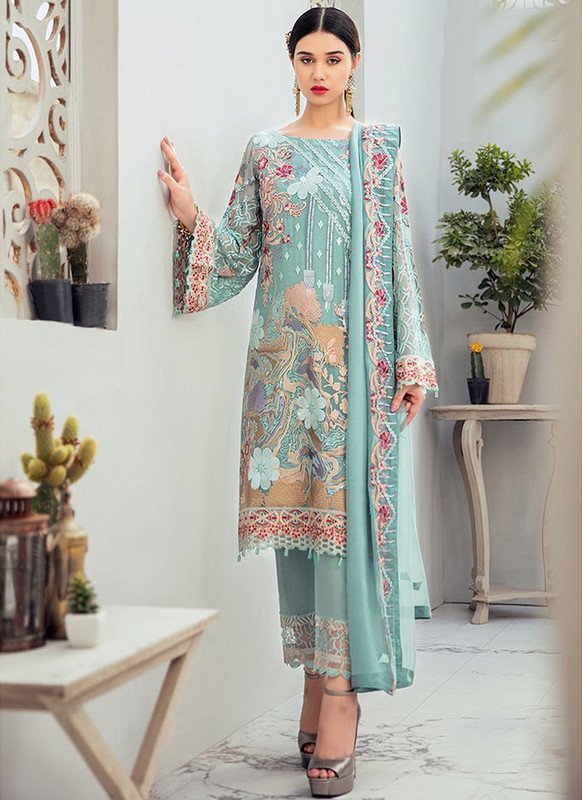 Sareetag Sea Green Heavy Designer Pakistani Style Salwar Suit