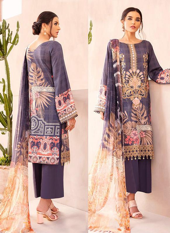Sareetag Purple Designer Pakistani Style Salwar Suit