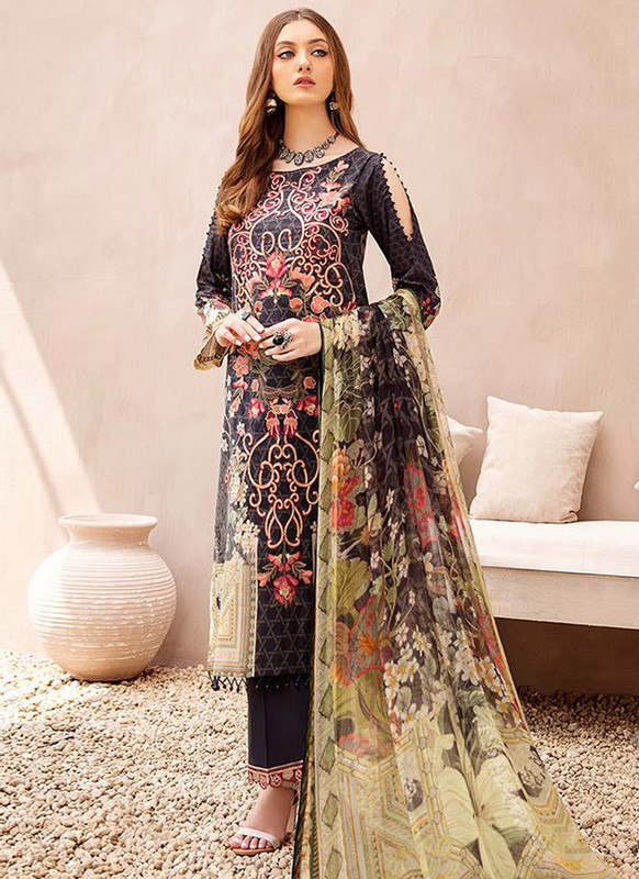 Sareetag Black Designer Pakistani Style Salwar Suit