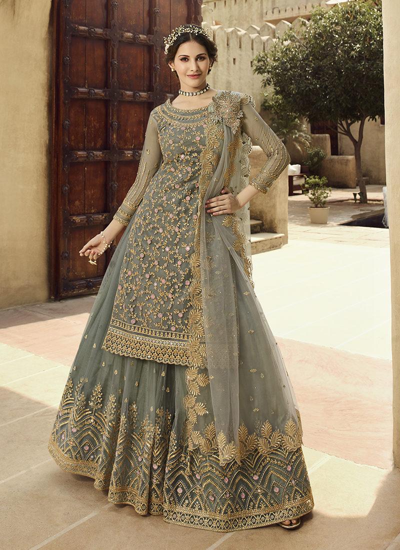 Glossy Amyra Shaivi Beautiful Designer Wedding Wear Suit