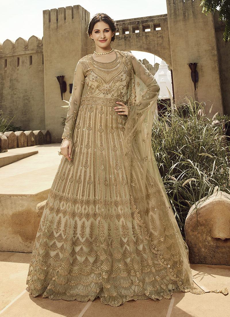 Glossy Amyra Shaivi Designer Wedding Wear Suit