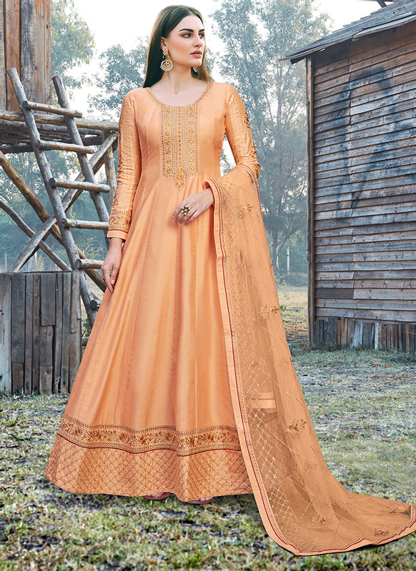 Bella Kashish Orange Designer Party Wear Salwar Kameez