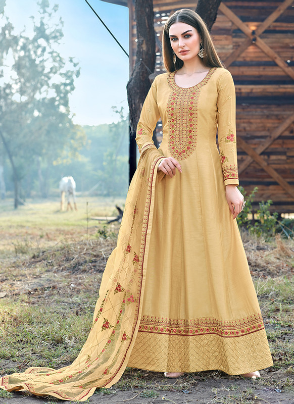 Bella Kashish Wheat Designer Party Wear Salwar Kameez