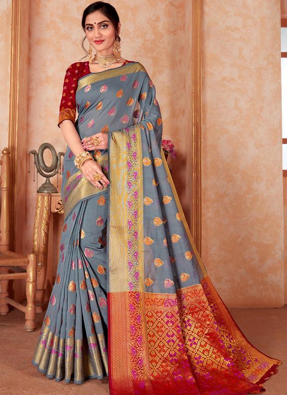 Sareetag Designer Traditional Wear Silk Weaving Saree