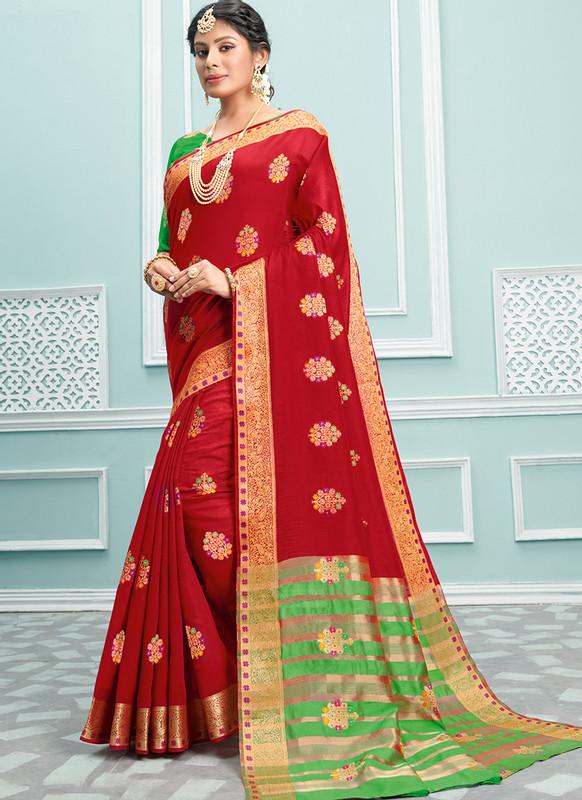 Sareetag Sangam Palak Attractive Wedding Saree