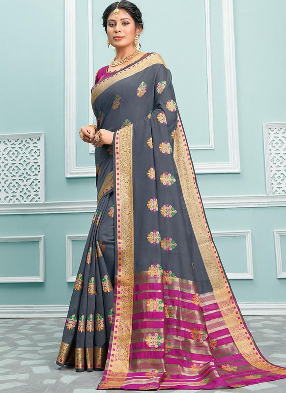 Sareetag Sangam Palak Pretty Wedding Saree
