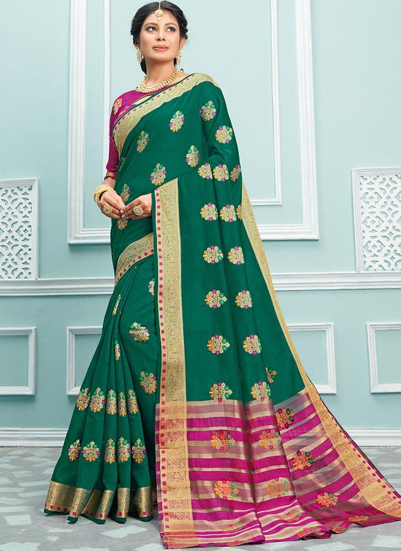Sareetag Sangam Palak Graceful Wedding Saree